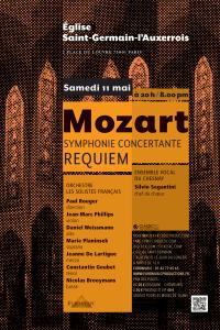 Mozart - Symphonie concertante et Requiem