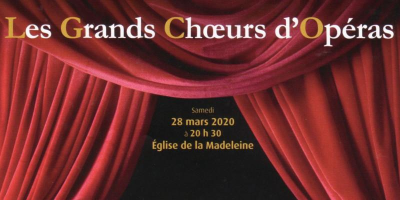 ANNULATION  - CONCERT 28 MARS A LA MADELEINE
