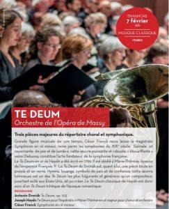 Te Deum ! Orchestre de l'Opéra de Massy